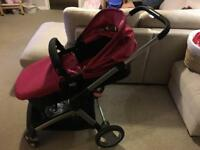 Pink mother care pushchair