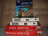 5 jigsaw puzzles (including 2 Mindbogglers)