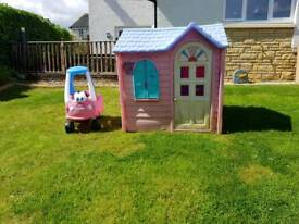 Little Tikes play house and car
