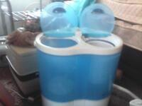 small twin tub washer hardley used