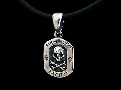 Memento Mori Anhänger Silber 925 Totenkopf suger Skull Mason