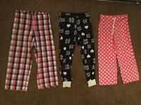 3x pairs of ladies lounging / pyjama bottoms