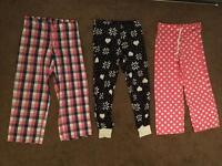3x pairs of ladies lounging / pyjama bottoms