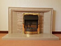 Tiled Fireplace and Electric Fire - FREE TO A GOOD HOME