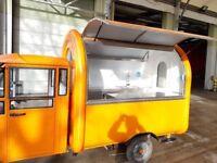 Electric Engine Bike Cart Mobile Catering Trailer Food Cart Burger Van Ice Cream Cart