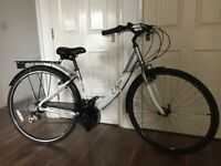 "Women's Apollo Elyse Comfort Series Hybrid Bicycle, 700c wheels, 16"" frame, 18 speed Shimano"