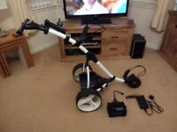 Motocaddy S3 Digital Electric Golf Trolley, Excellent Working Order With Litepower Lithium Battery