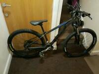 Cube mountain bike with fluid brakes