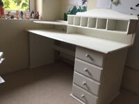Wooden Office Desk with Optional Upper Unit