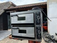 SECOND HAND 2 DECK PIZZA OVEN FAST FOOD RESTAURANT CATERING COMMERCIAL SHOP