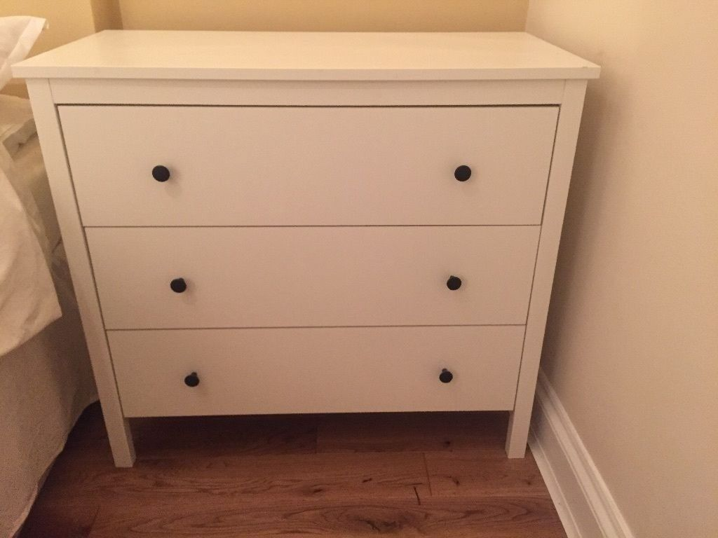 release date: 79e1c 82d63 Ikea Koppang large white chest of drawers (3 drawers) excellent condition |  in Oval, London | Gumtree