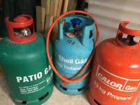 THREE (3) >>>13Kg -CALOR GAS >>>SHELL GAS>>>PROPANE / BUTANE Gas bottles
