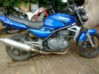 kawasaki er 500 ..ready to ride away bargain 795.00