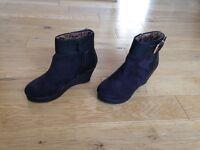 Girls River Island wedge heel boots size 12