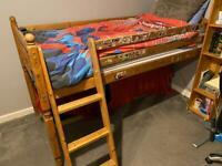 FREE - Mid sleeper pine bed frame