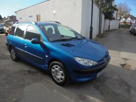 Peugeot 206 SW 2.0 HDi S, 4 door estate, 2004 (04)