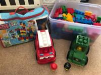 Large bundle of duplo plus vehicles & figures