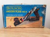 Rolson Smooth Plane No. 4 Steel Cutter