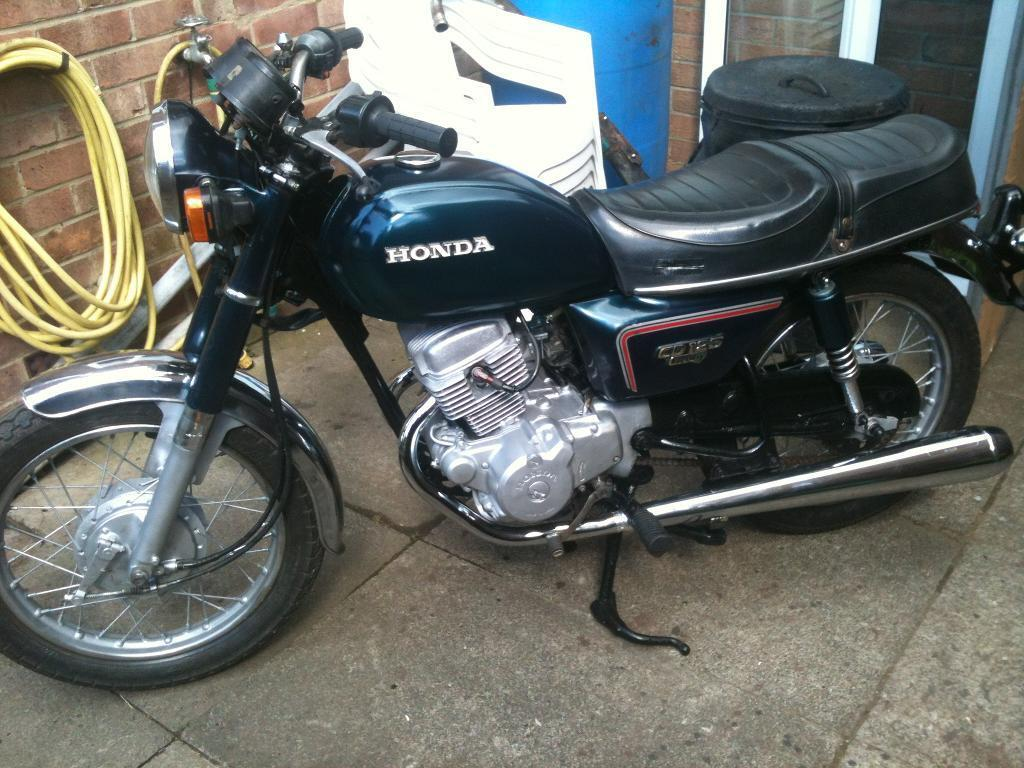 honda cd 125 tc benly twin electric start in blue 1984 in stockton on tees county. Black Bedroom Furniture Sets. Home Design Ideas