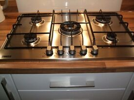 Zanussi built in single oven and 5 ring gas hob