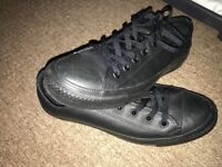 Converse Black leather pumps