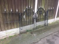 Galvanised Garden Gates / Double Matching Gates- DELIVERY AVAILABLE