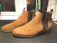 Bertie: Cole Double Pull Up Tab Chelsea Boots - Link new Tan ONLY £30!! *(£110RRP)*