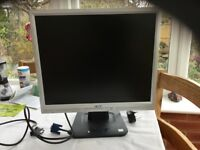 ACER LCD 19 inch monitor, working condition.