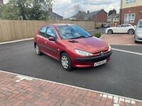 Peugeot 206 1.4 petrol with low miles and long mot