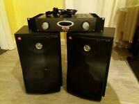 Studio monitor speaker amp set up