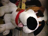 Large cuddly toy dog