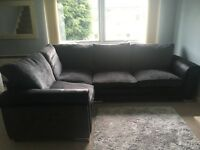 Dark grey corner sofa