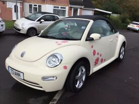 VW Beetle Cabriolet, 2003, very low mileage and full main dealer service history