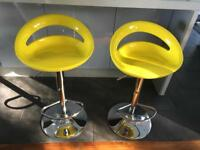 Brand new yellow bar stools £25 for both