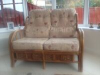 Conservatory/extension 2 seater and 2 x single chairs
