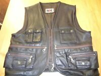 USE LEATHER MOTORCYCLE WASTCOAT