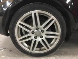 "Genuine Audi A3 alloy 18"" sline - black edition"