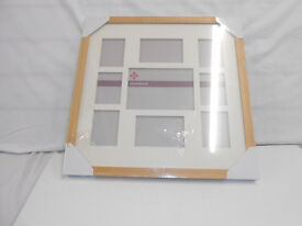 Wooden Photo Frame for 9 photos - new