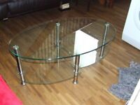coffee table glass oval excellent condition collection only please