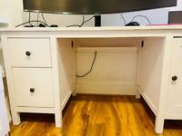Sturdy White desk - good condition
