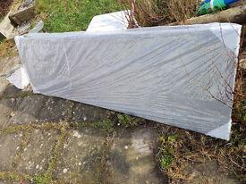 5.5m Slate grey effect rolltop Kitchen worktop