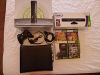 Xbox 360 Elite, Games, Controller & Kinect