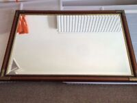 Great Large Shabby Chic Mirror with Brass Features £20