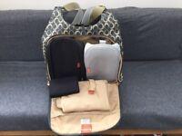 Pacapod Napier Changing Bag, grey & cream, good condition
