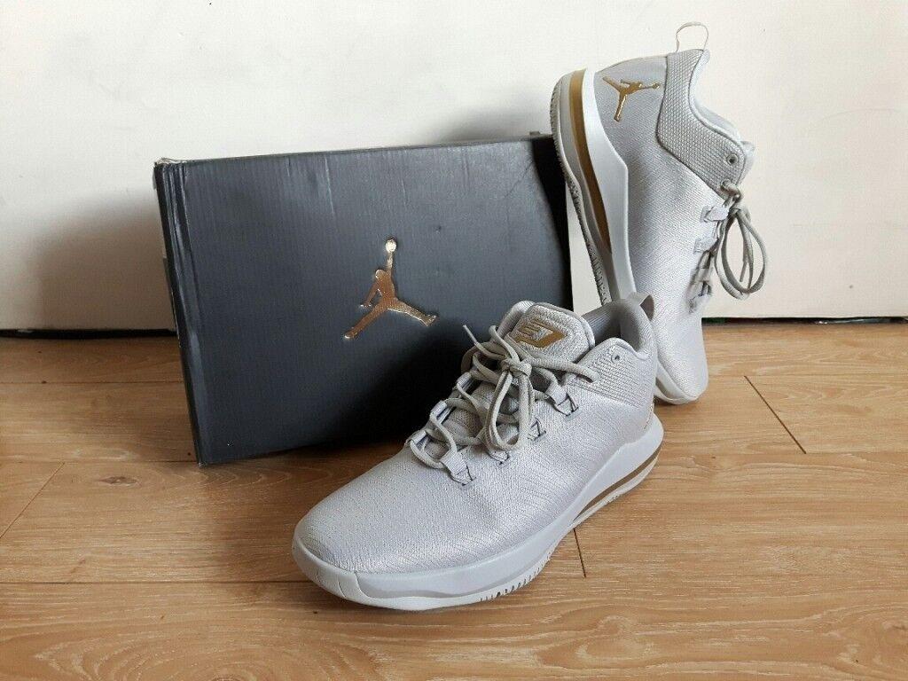 259fdf232dfba7 Nike Jordan CP3.X AE Men Shoes Chris Paul Grey Gold UK11 10