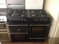 Full gas 100cm Black cooker