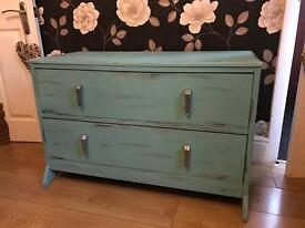 Unique set of vintage bedroom drawers