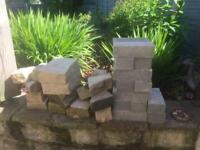 Small selection of bricks and stone