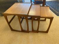 G Plan Quadrille Teak Nest of 3 Tables