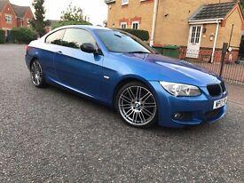 BMW 320d 2013 MSPORT AUTO INDIVIDUAL LCI CHEAP BMW PERFORMANCE ESTORIL BLUE RARE E92 E93 325 330 120